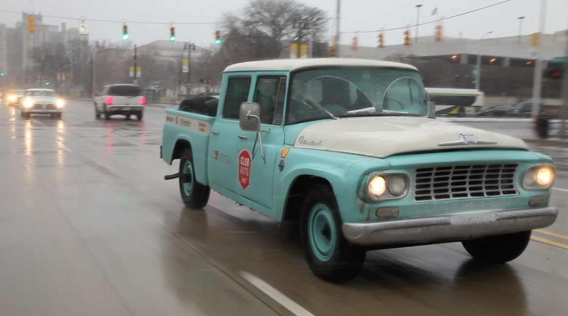 1962 International Travelette pick up front RH corner Woodward Ave