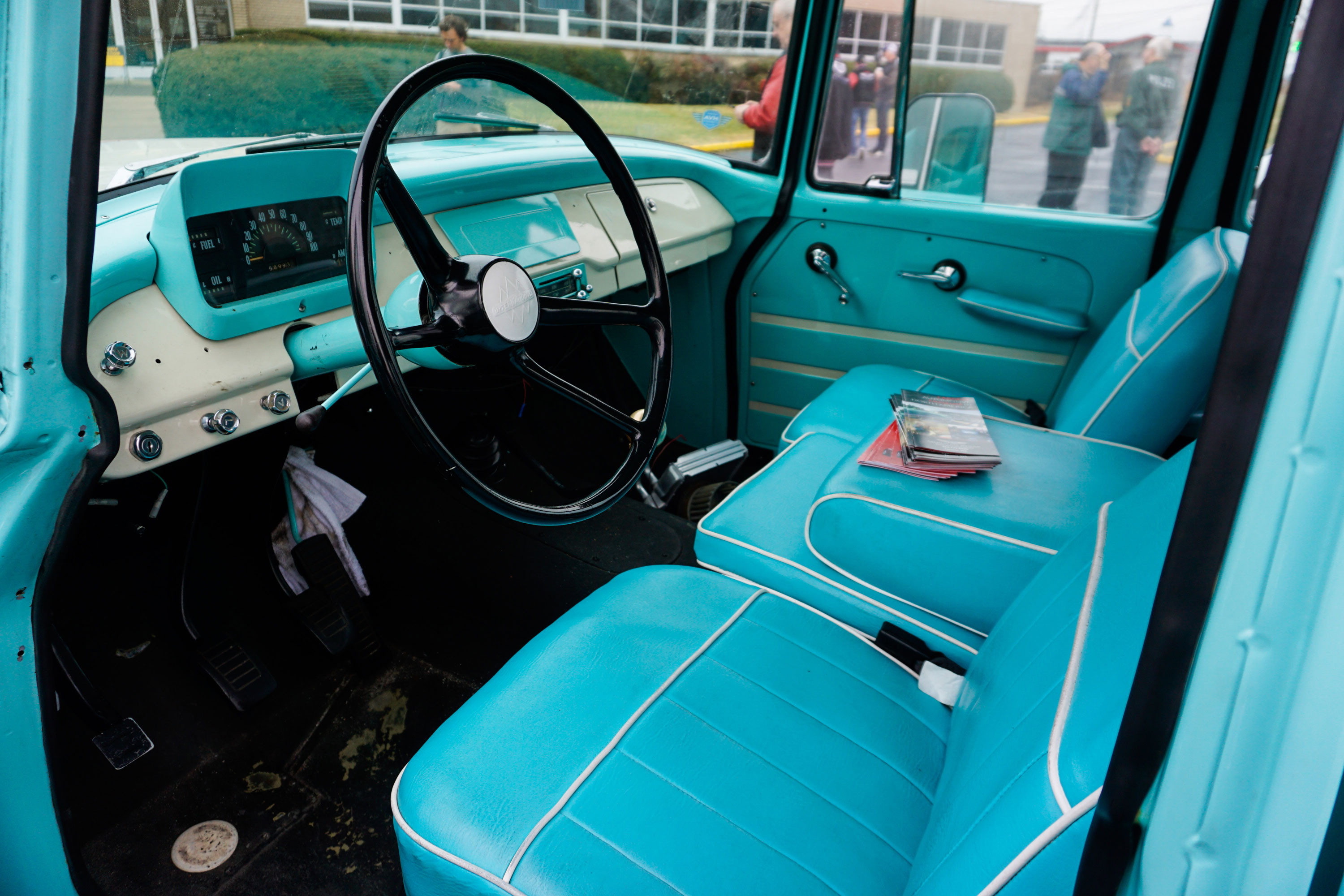 1962 International Travelette pick up interior photo