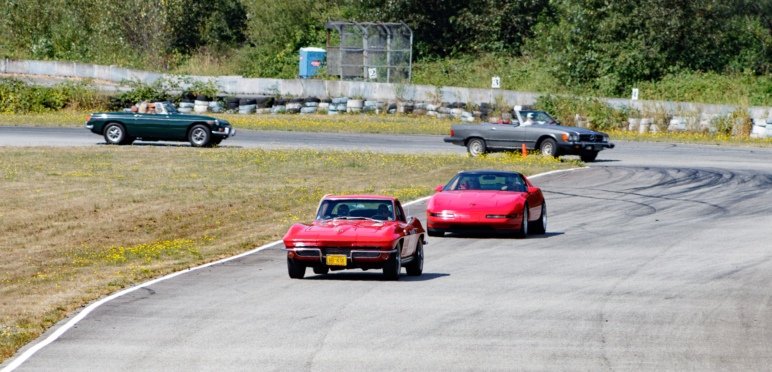 1964 Chevrolet Corvette on the track