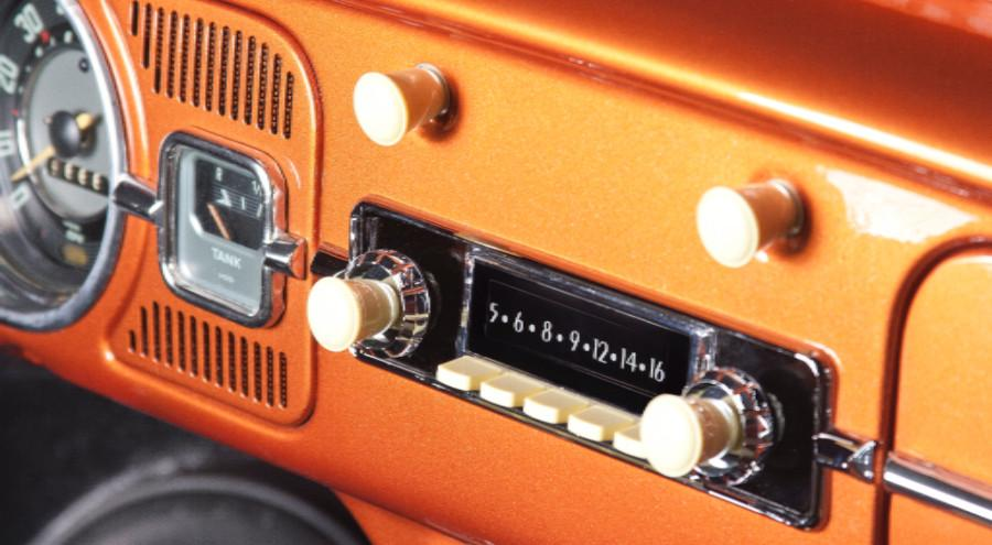 One of the many choices of faux vintage radios from Retrosound.