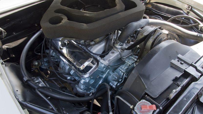 1969 Pontiac Firebird Trans Am engine compartment