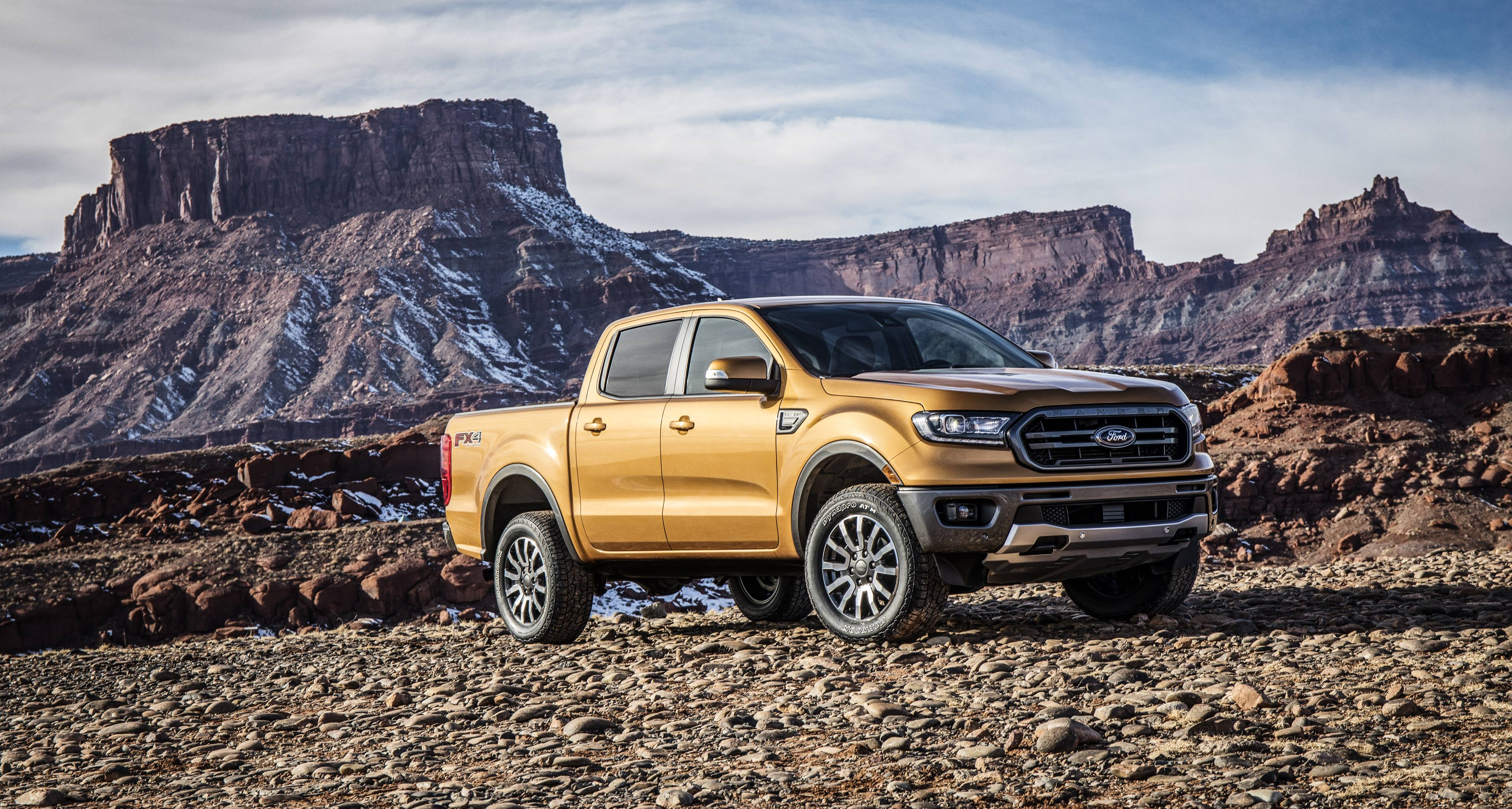 2019 Ford Ranger in the mountains