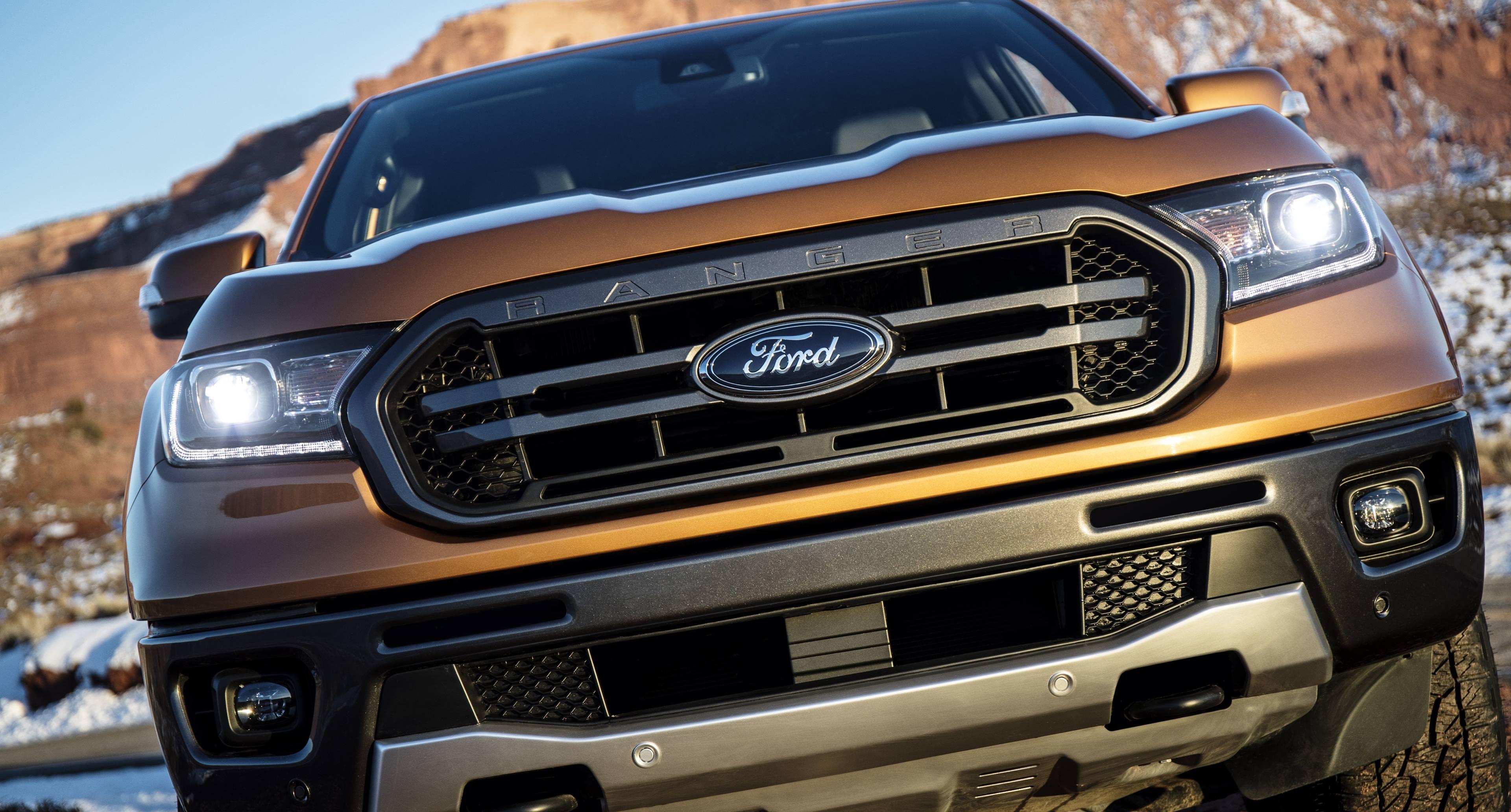 2019 Ford Ranger grille detail