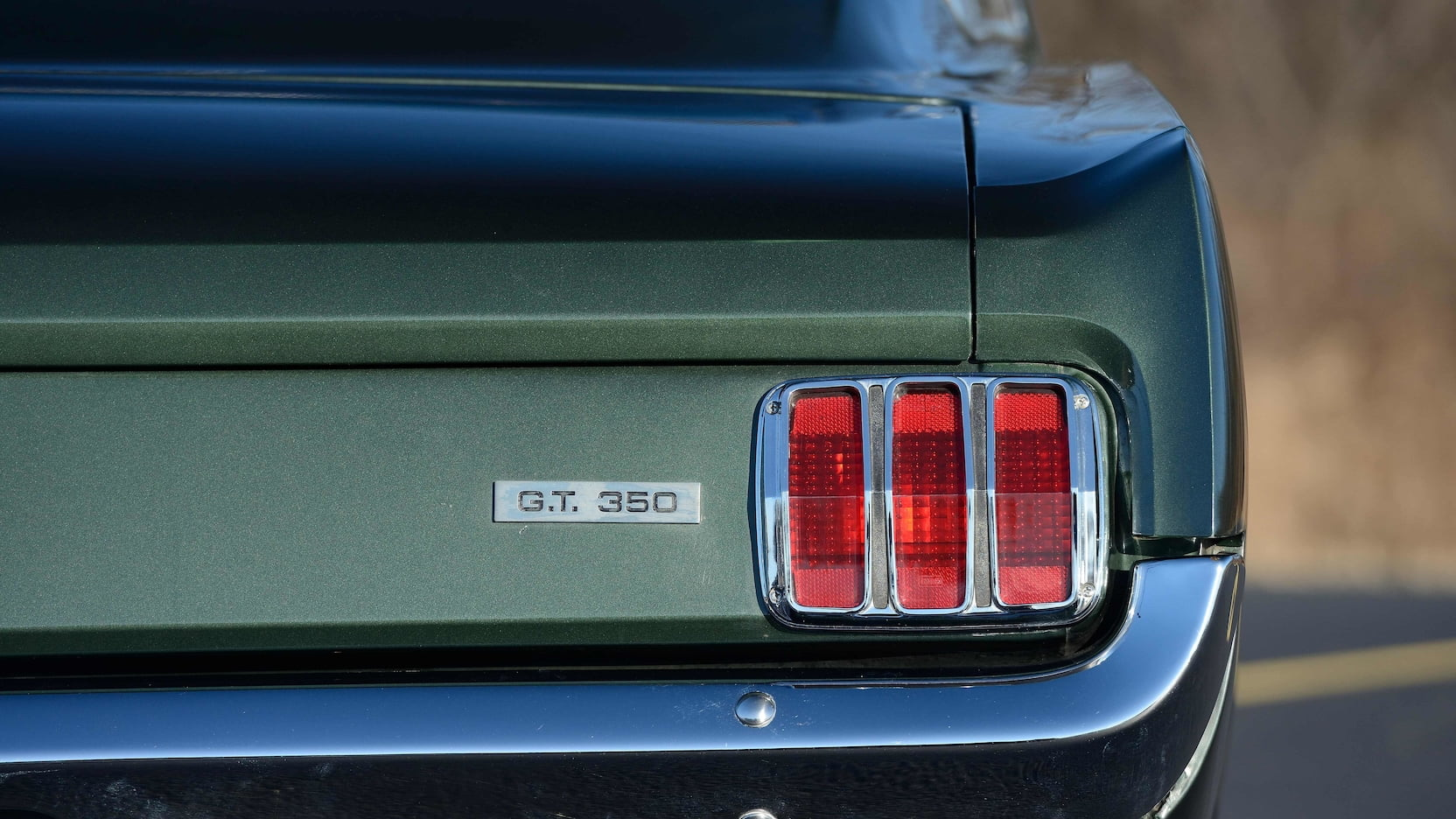 1966 Shelby GT350 tail light detail
