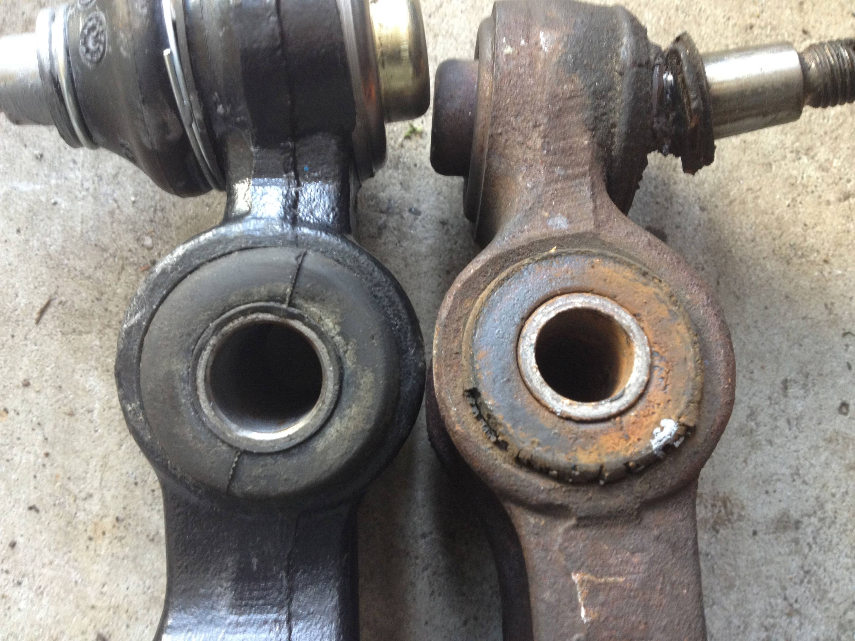 Examples of bushings in lower control arms.
