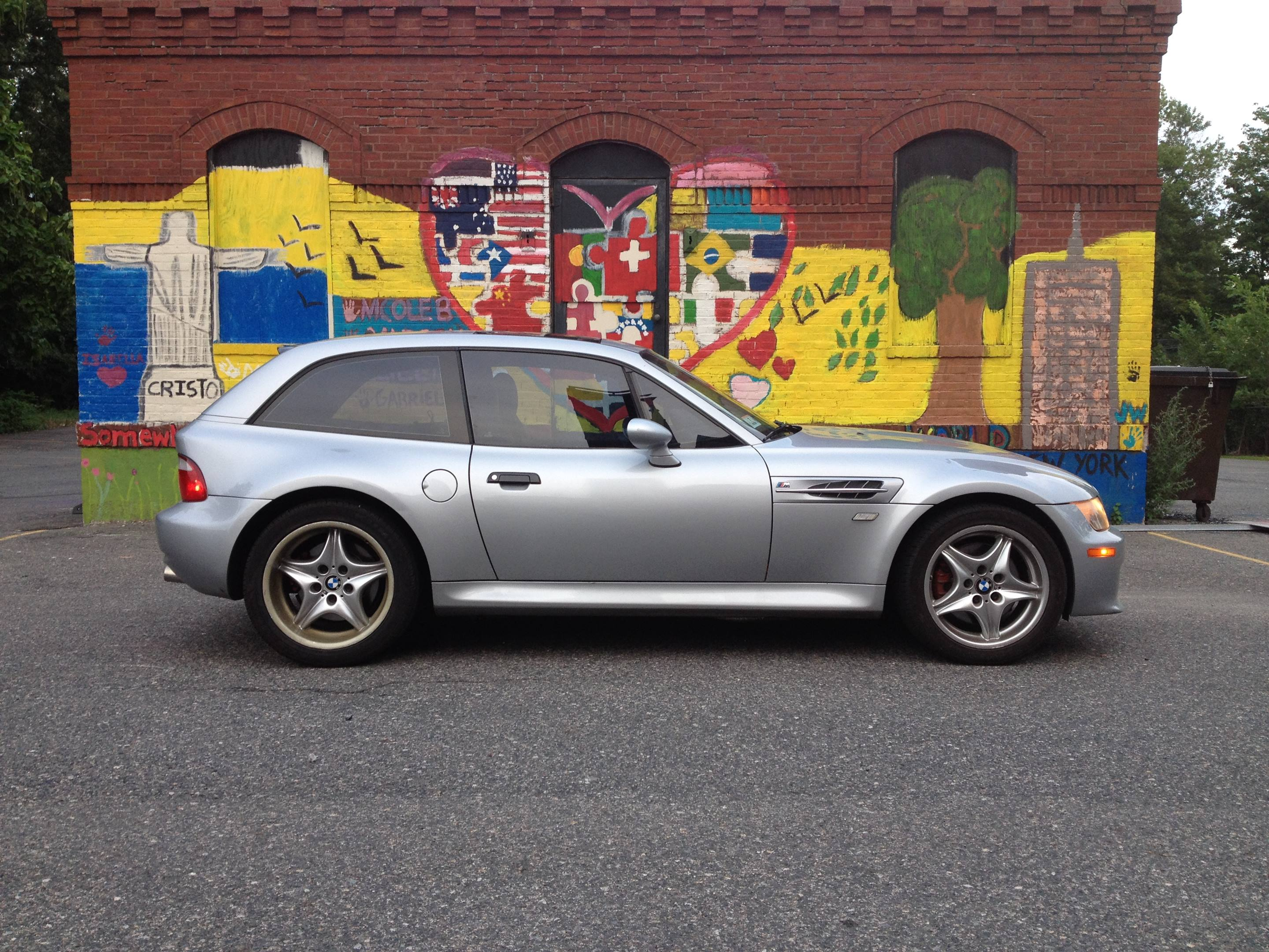 bmw z3 coupe side profile M graffitti