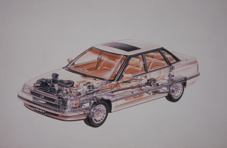 Subaru Legacy blueprint