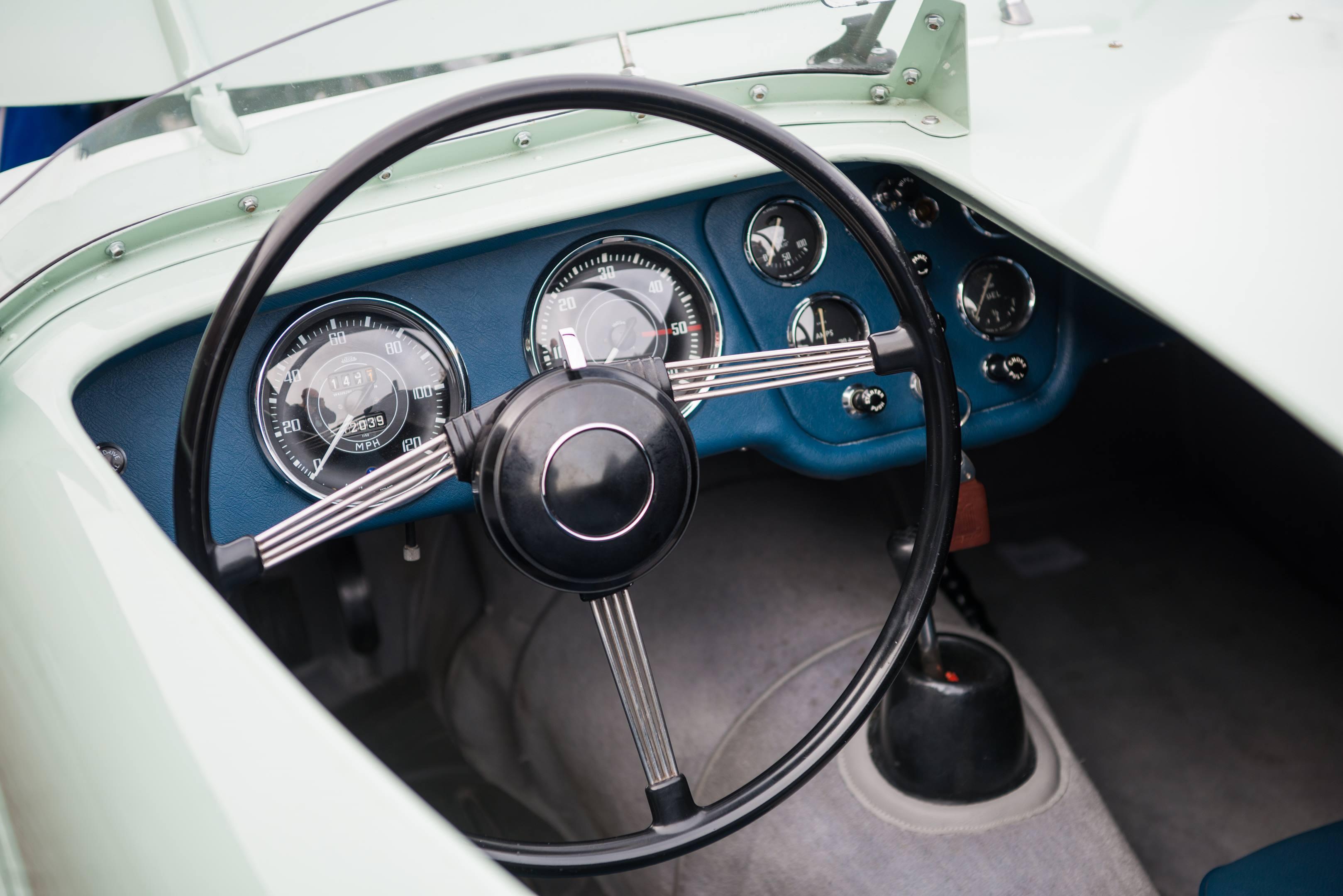 Triumph TR2 cockpit