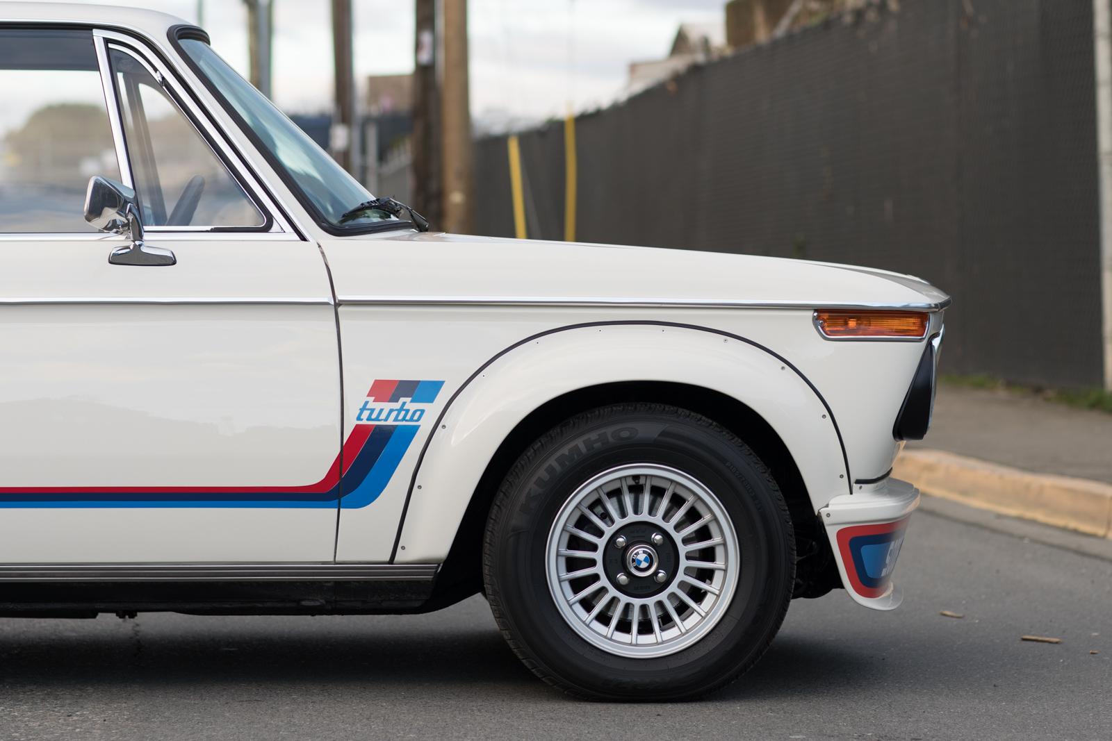 1974 BMW 2002 Turbo RH front corner and tire