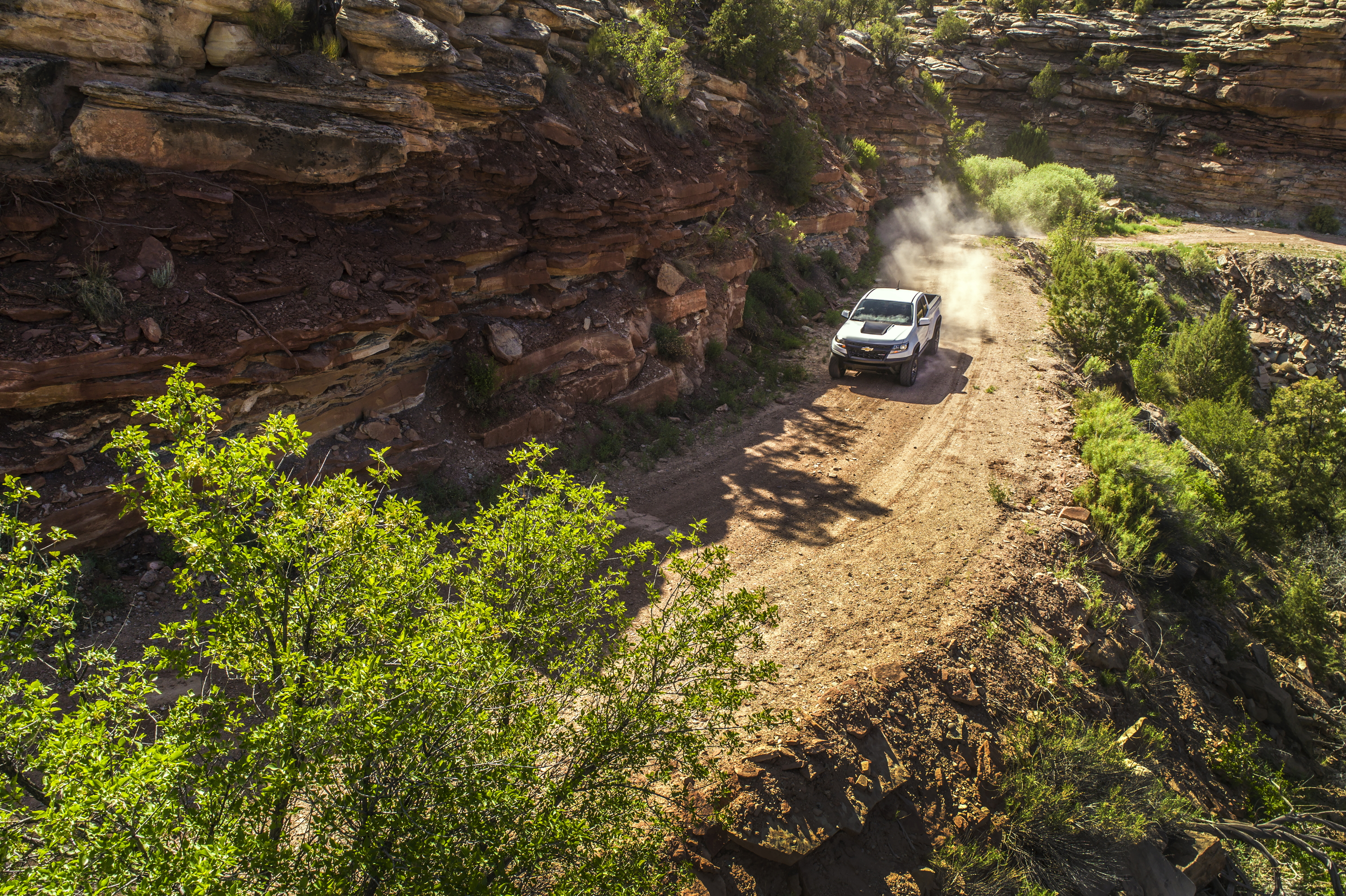 2017 Chevrolet Colorado ZR2 in the mountains