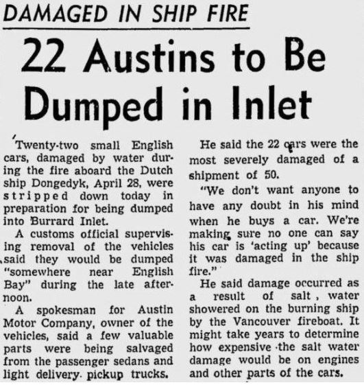 A 1952 article published in the Vancouver Sun.
