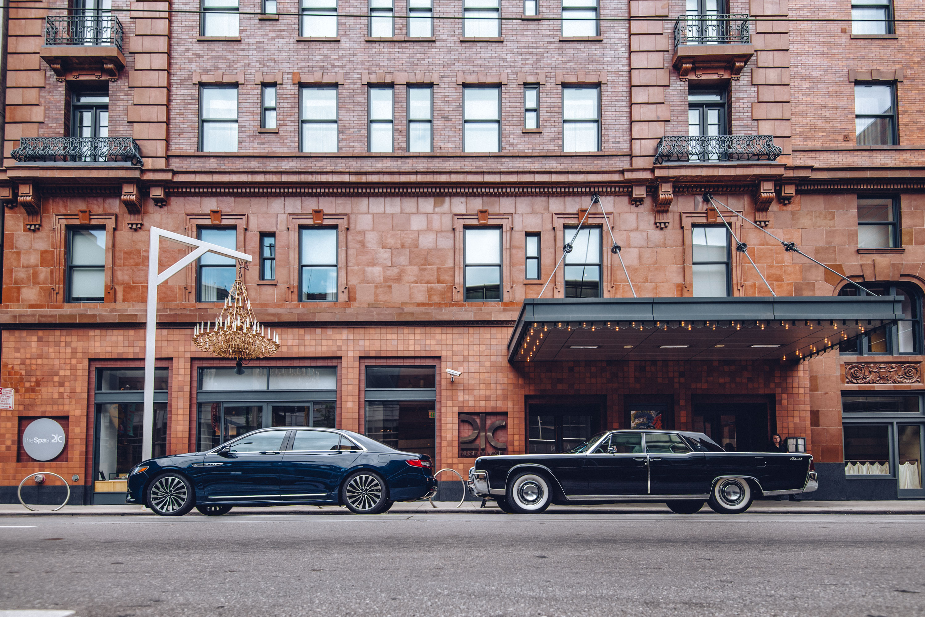 American luxury has changed almost as much as America itself in the half-century separating these two Continentals, but a bold, bluff presence that conveys status endures.