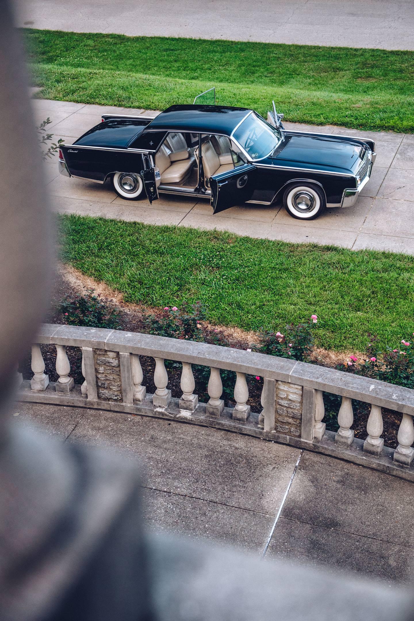 "1964 Lincoln Continental ""suicide"" doors open"