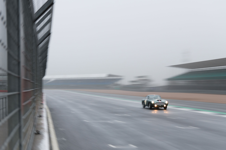 1959 Aston Martin DB4 GT on the track