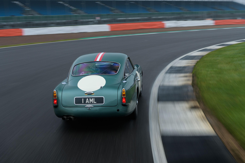 1959 Aston Martin DB4 GT turning right