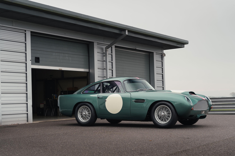 1959 Aston Martin DB4 GT at the garage