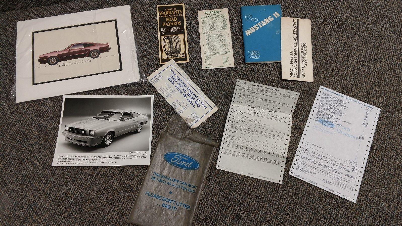 1978 Ford Mustang II King Cobra documentation