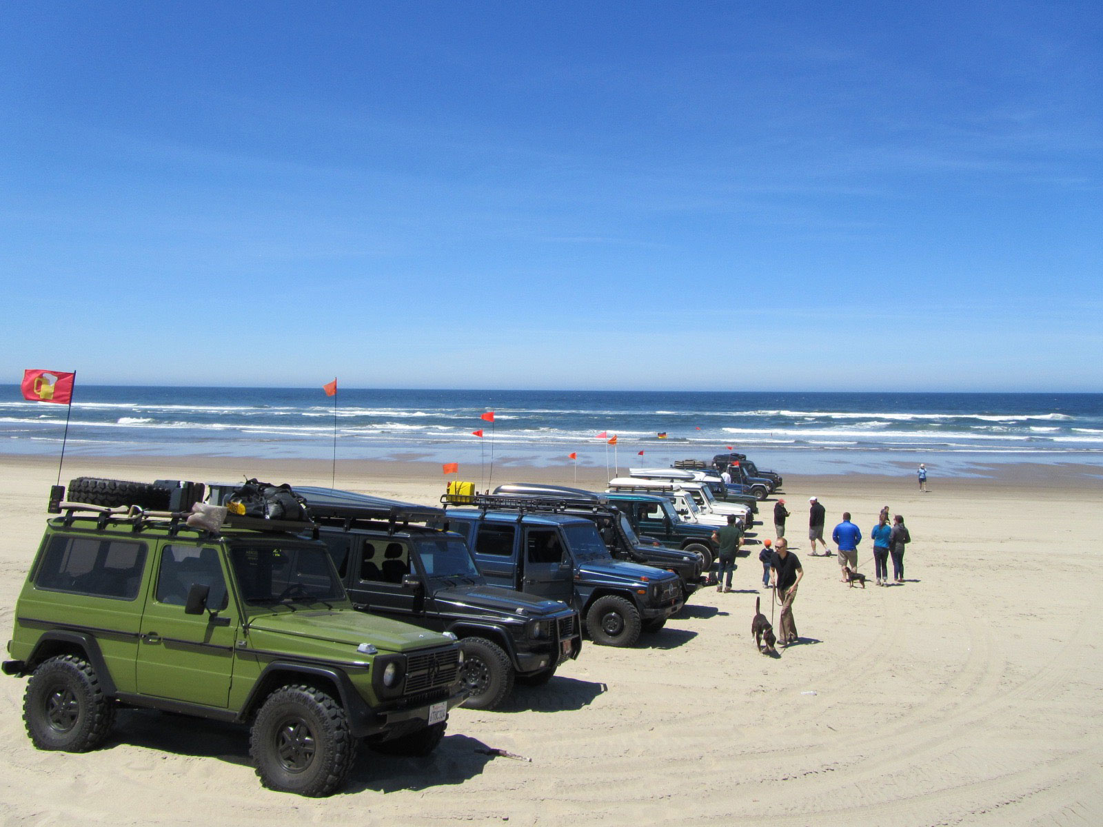 Gs of different vintages line up to take the beach by storm.