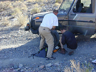 Field repairs, done as needed. The new G-wagens are no longer as simple or serviceable.