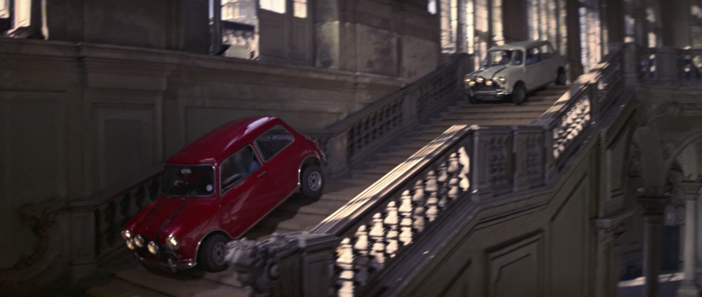 The Italian Job 1969 chase scene