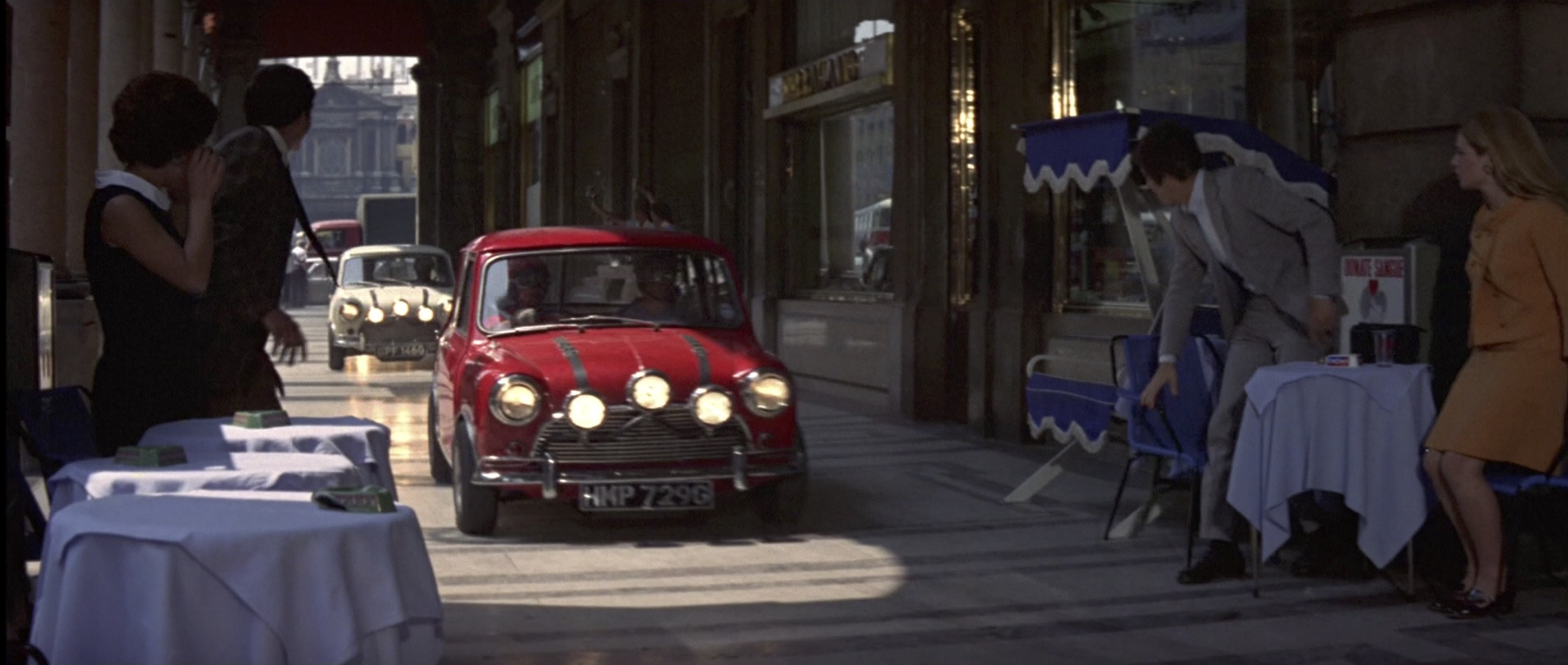Austin Mini Cooper in The Italian Job