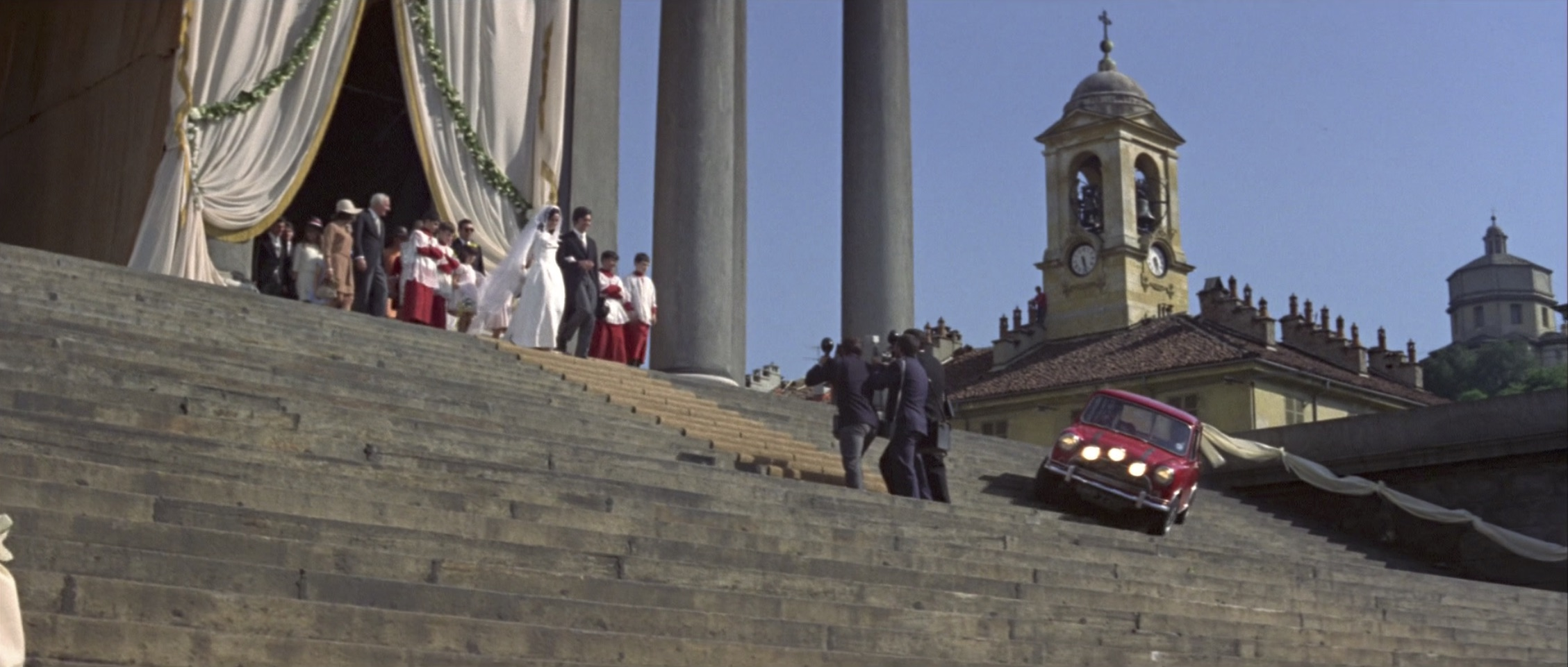 Italian Job chase scene