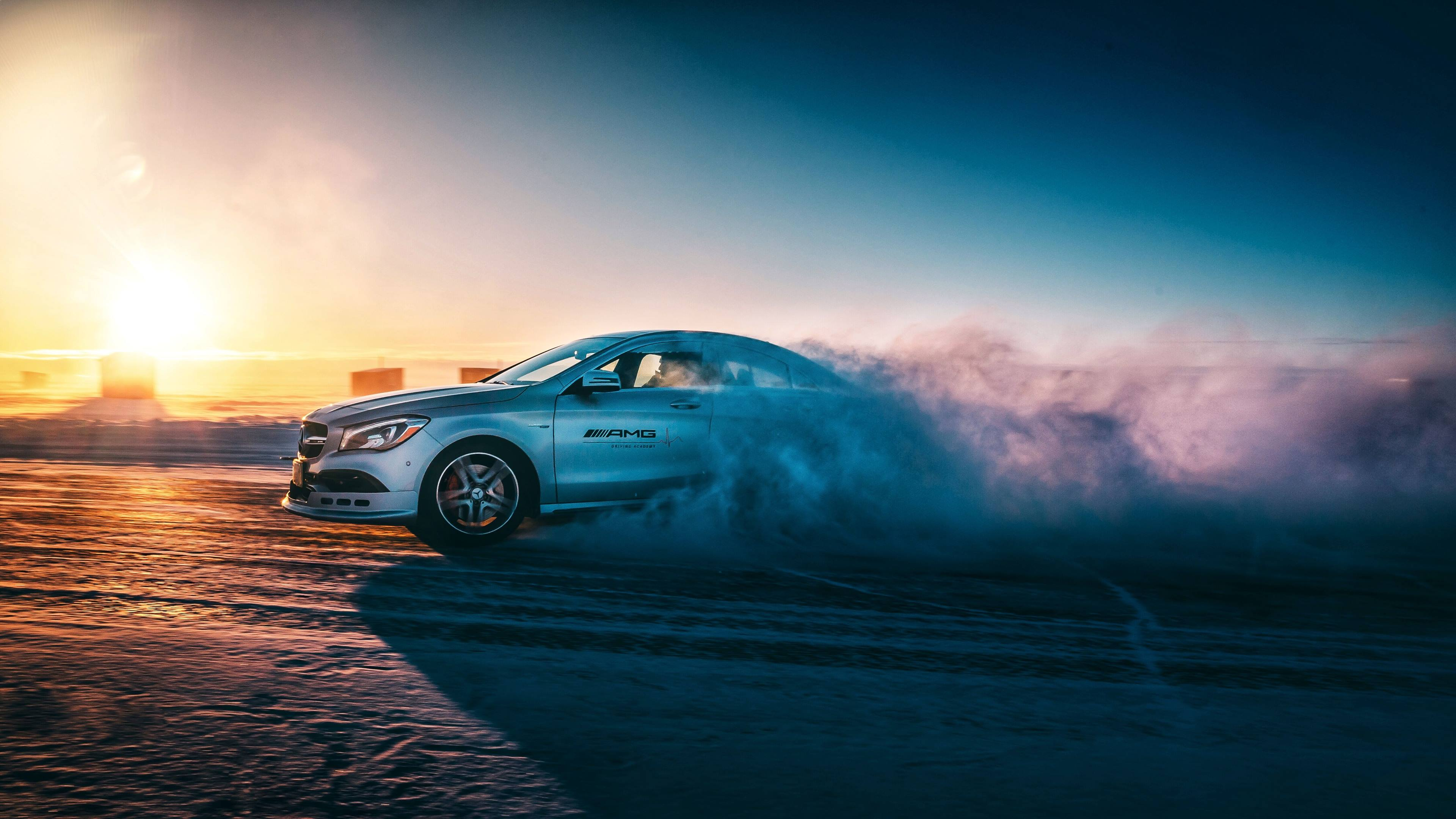 Mercedes-AMG snow drifting