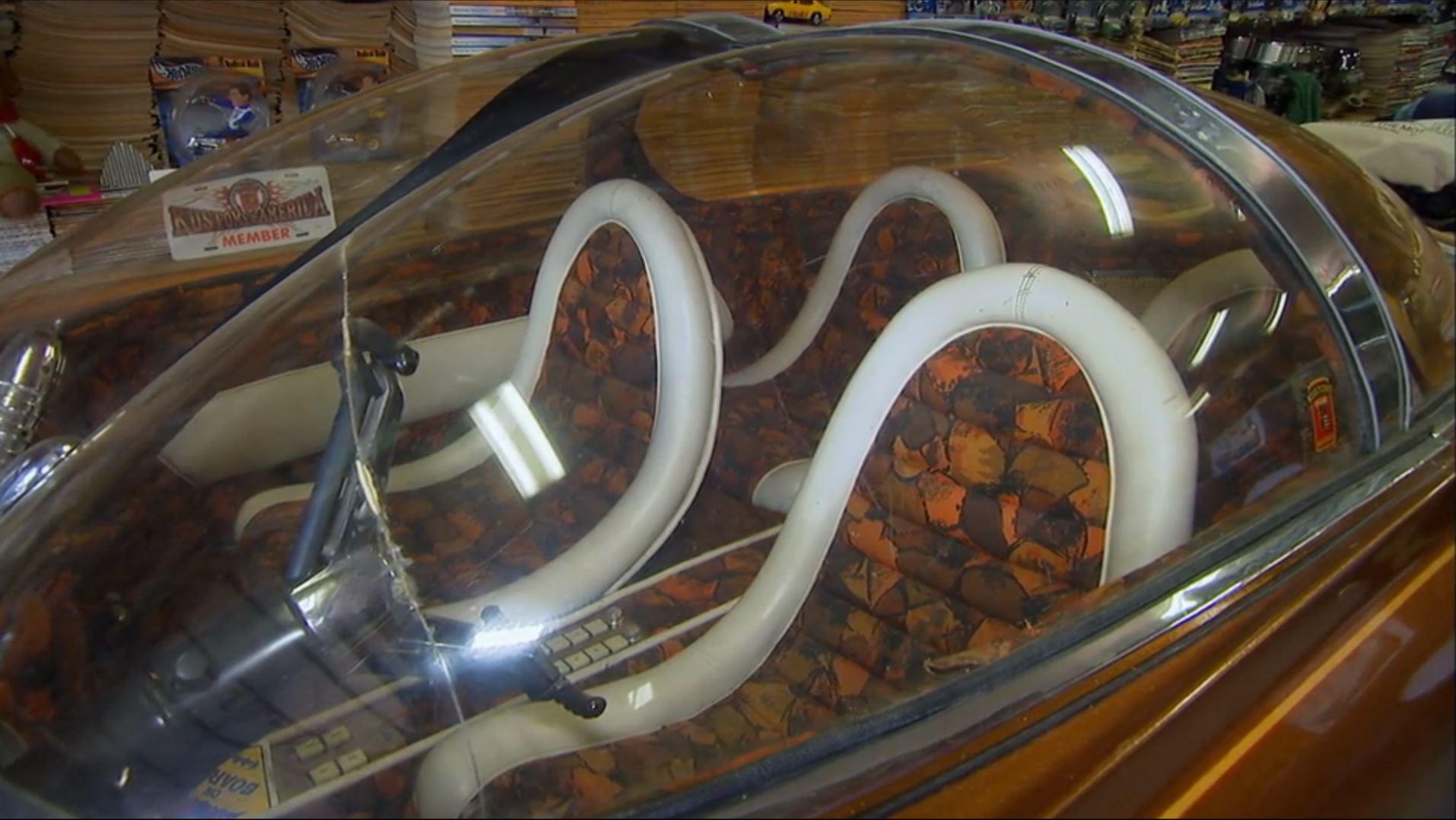 The Forcasta golden bubble car interior