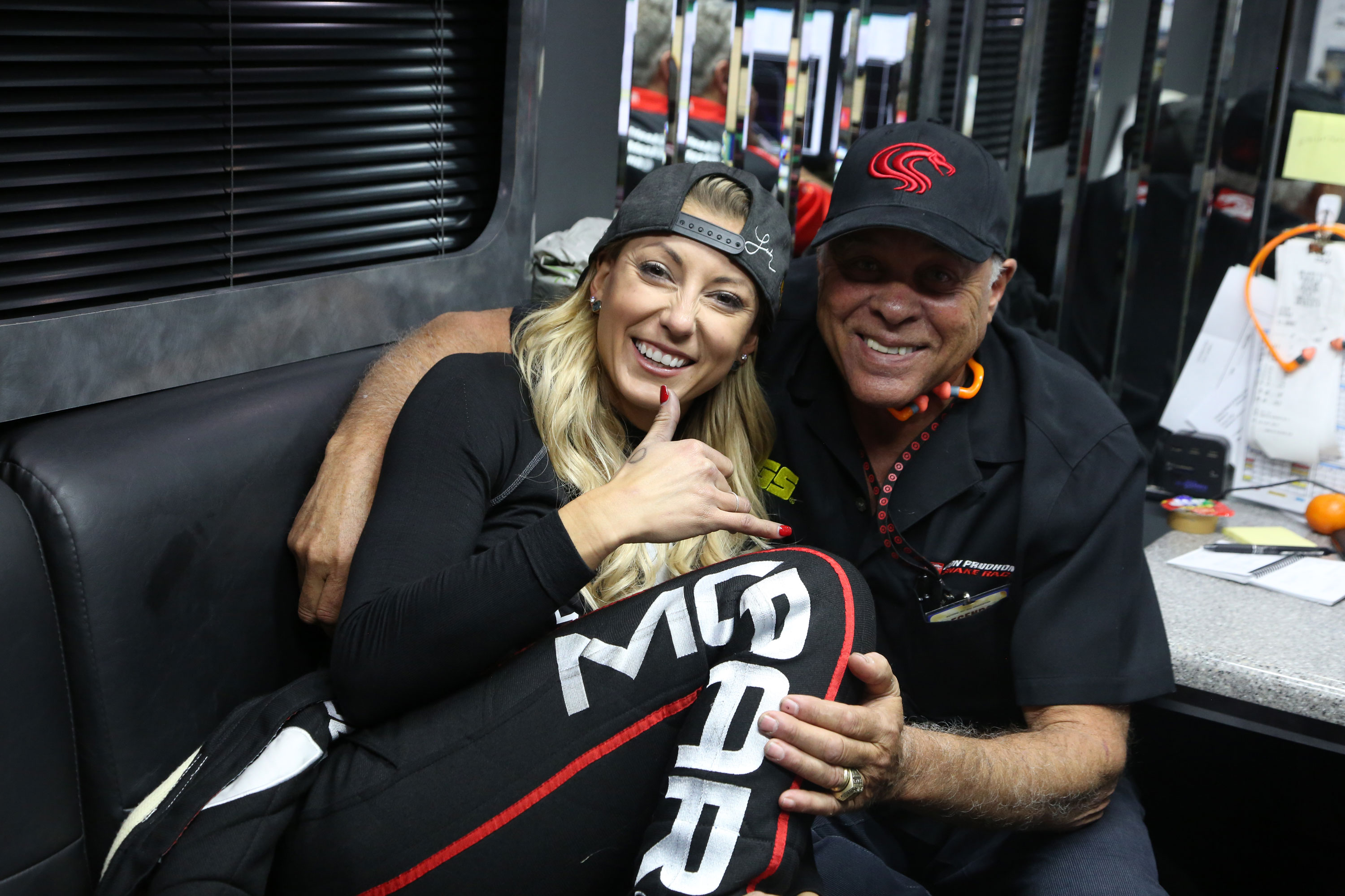 """""""I like Leah Pritchett,"""" says Prudhomme. """"She's scrappy and she's serious and she's a good driver. She wants to win."""""""