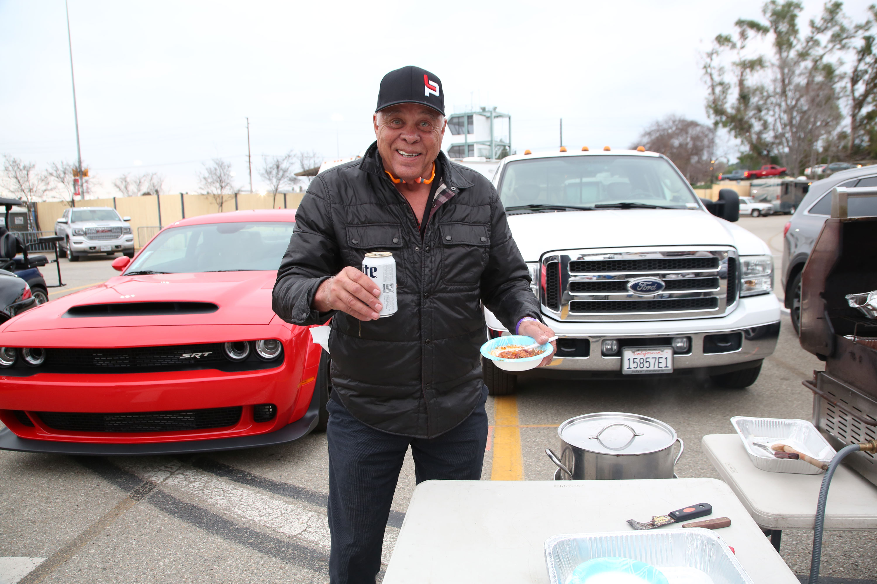 At the end of the day, bbq and beer with the tailgaters, just like any other race fan.