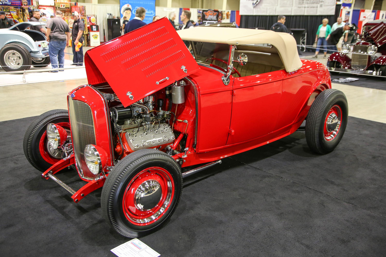 """Scott Helliesen's """"Little Red"""" '32 Ford."""