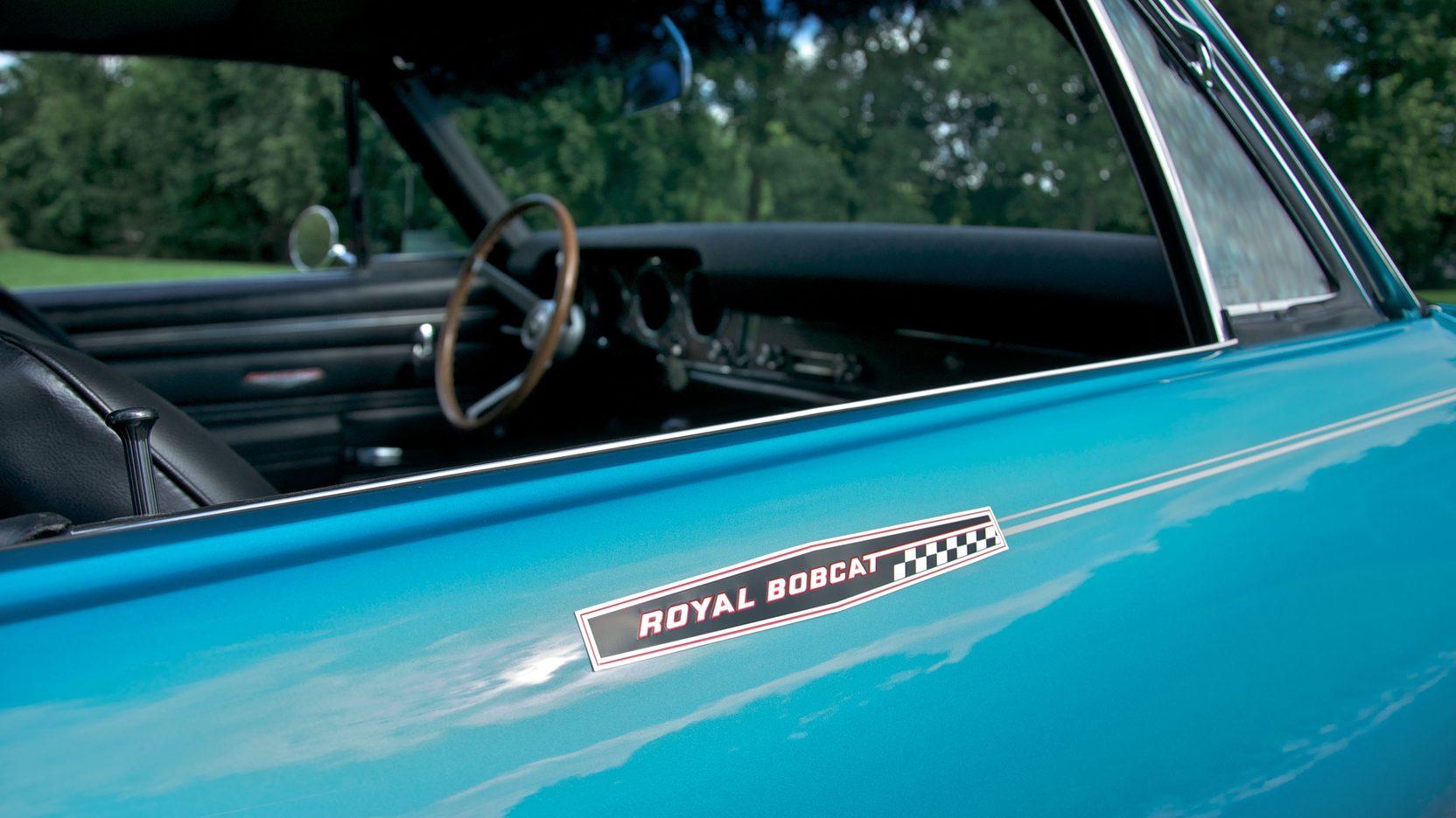 Royal Pontiac Bobcat emblem on a 1968 GTO