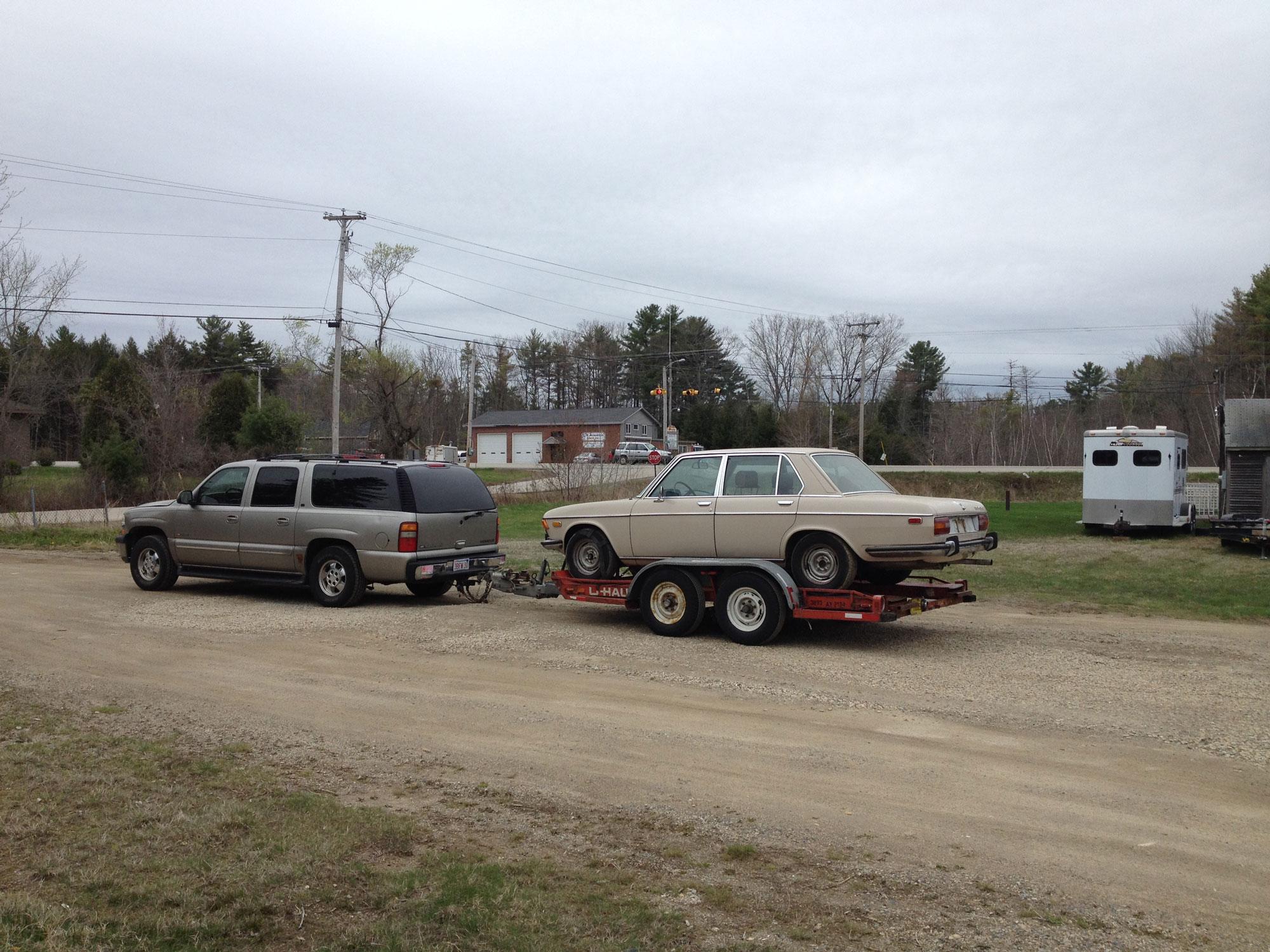 The 'Burb hauling home the Bav.