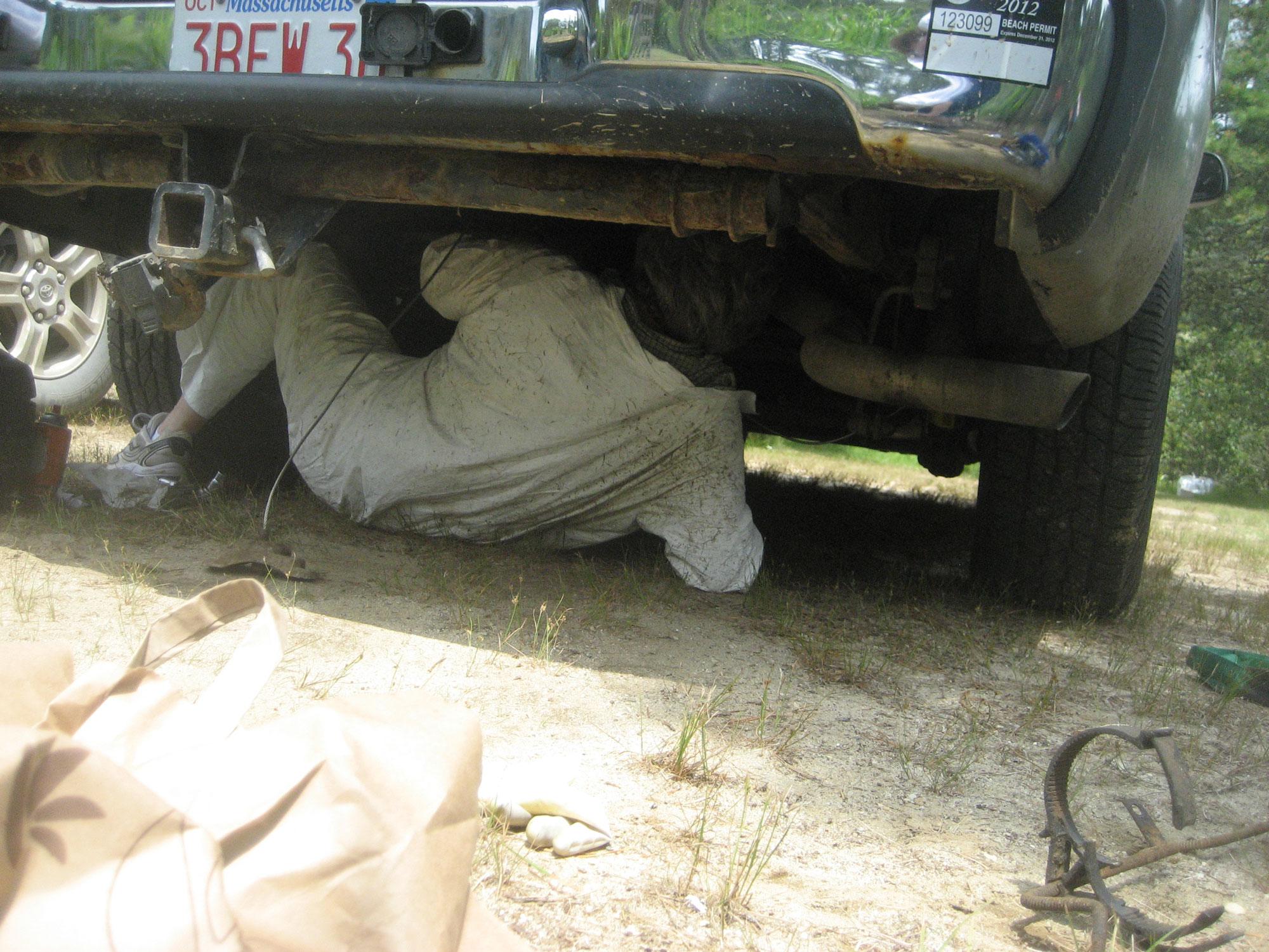 On-island brake line replacement. Isn't vacation fun?