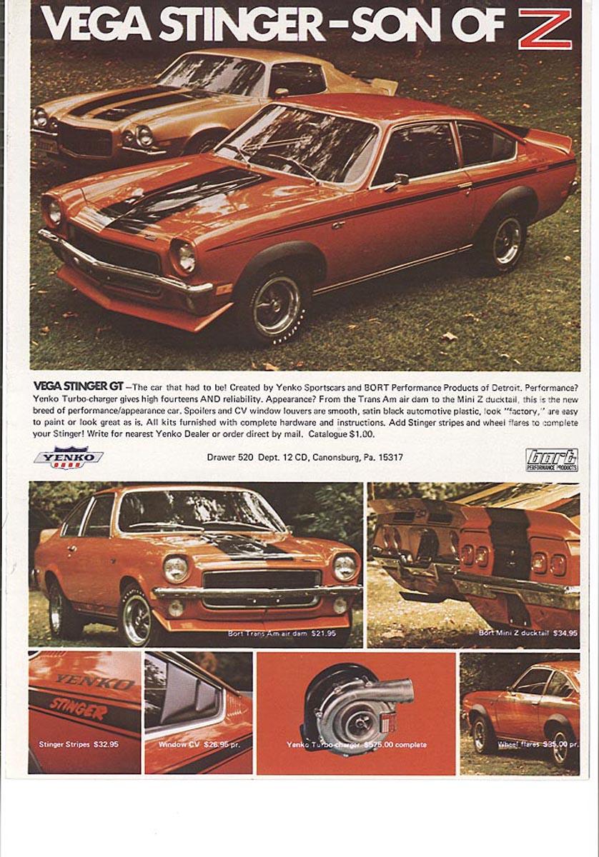 Chevrolet Vega Yenko Stinger GT
