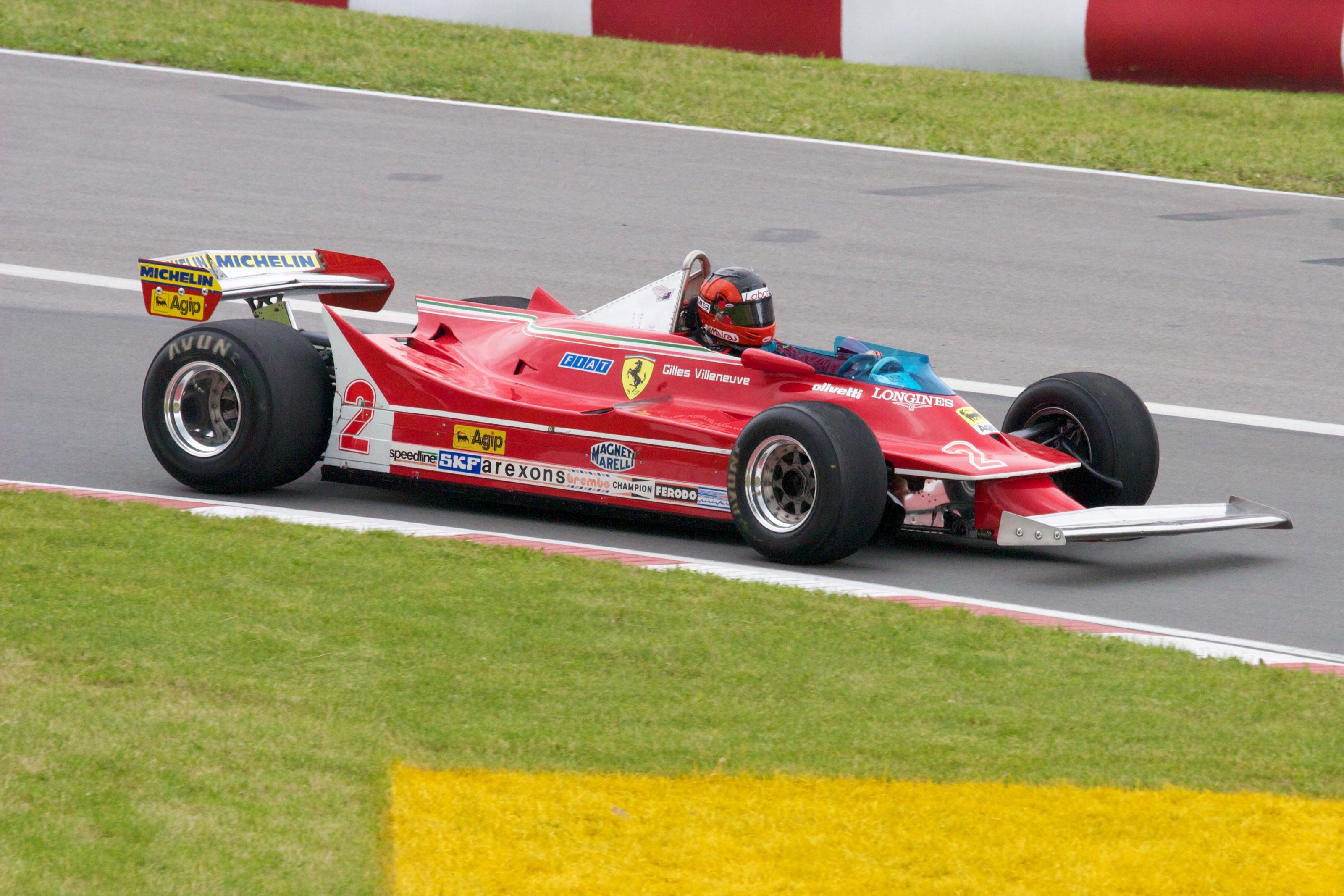 Gilles Villeneuve's Ferrari 312T5 at the Histric race during the 2010 Canadian GP