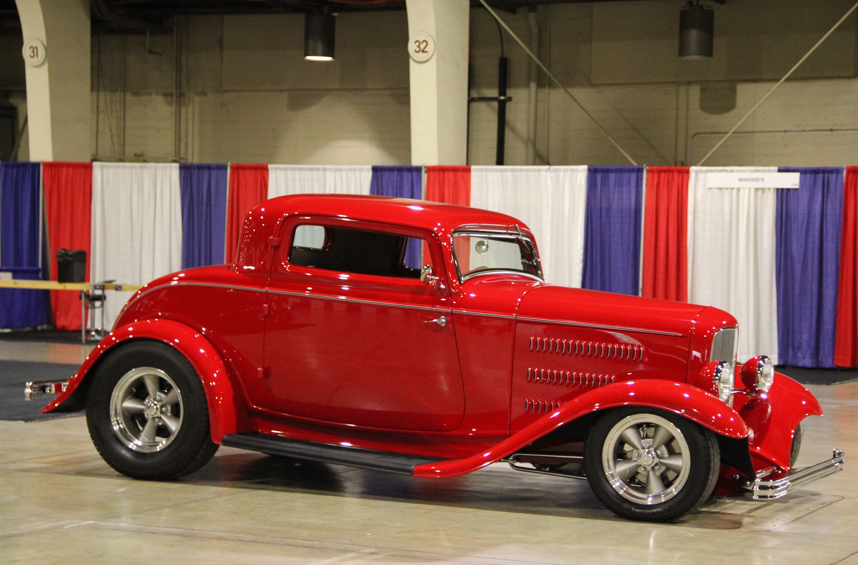 red 1932 Ford Deuce coupe