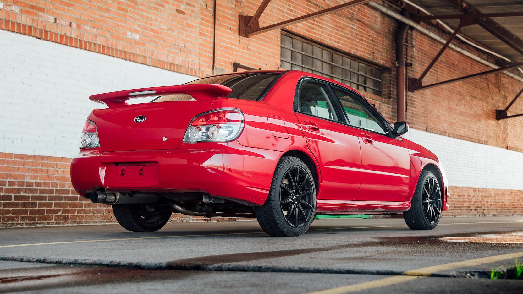 2006 Subaru WRX coupe rear 3/4