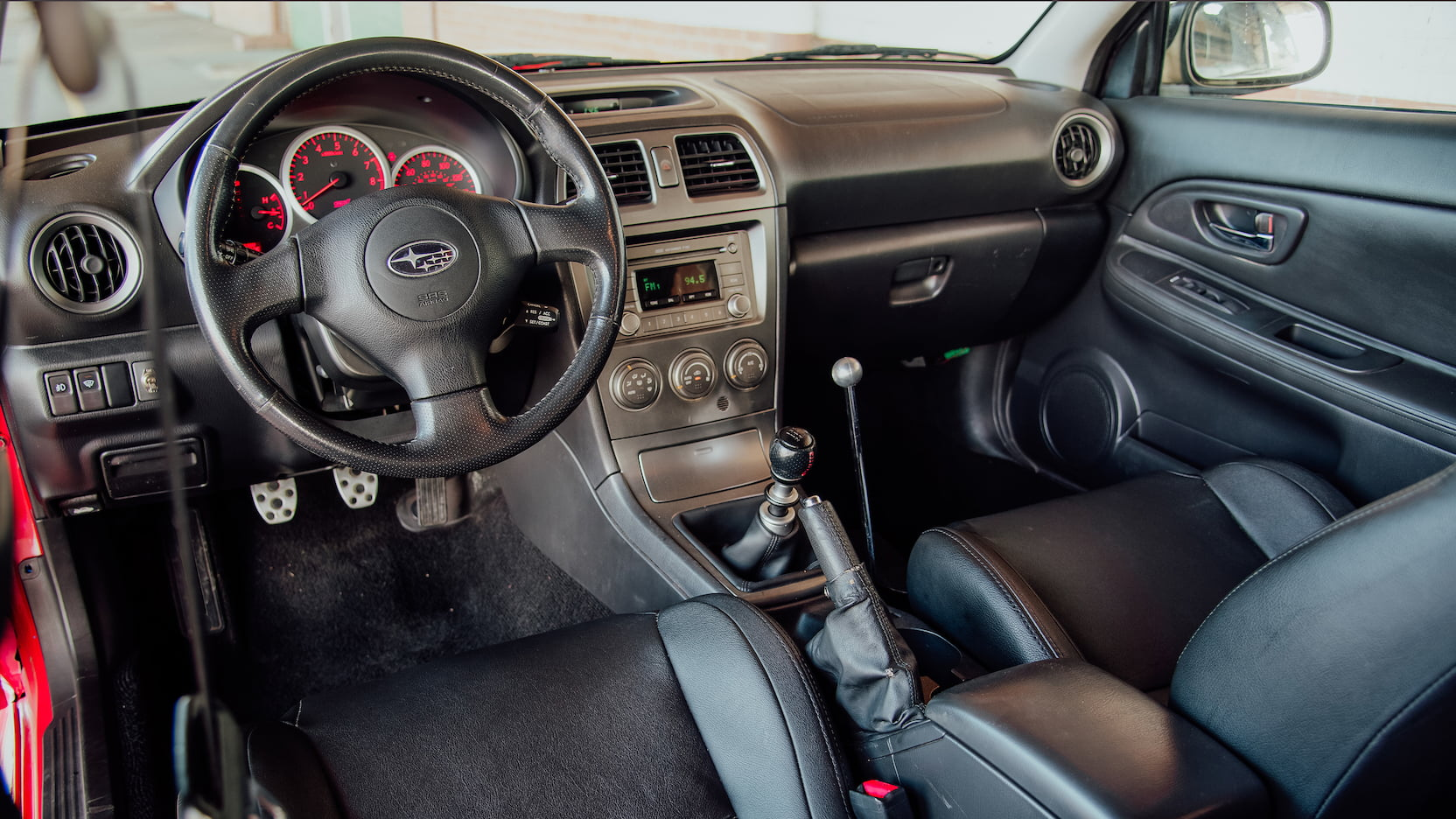 2006 Subaru WRX coupe interior