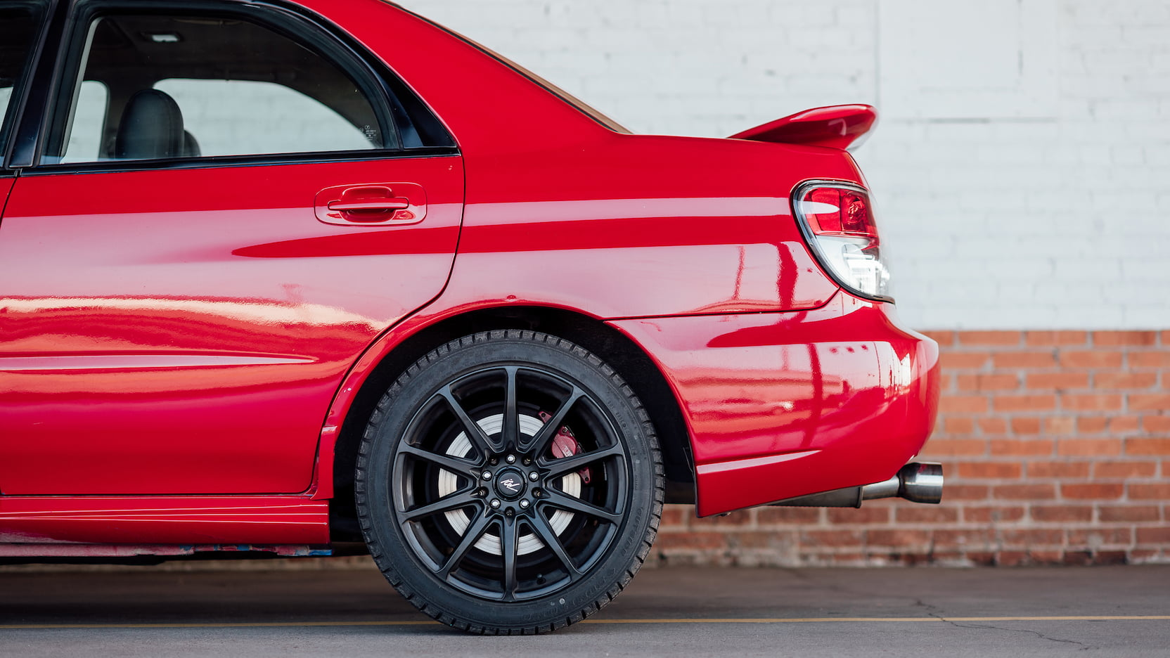 2006 Subaru WRX wheel detail