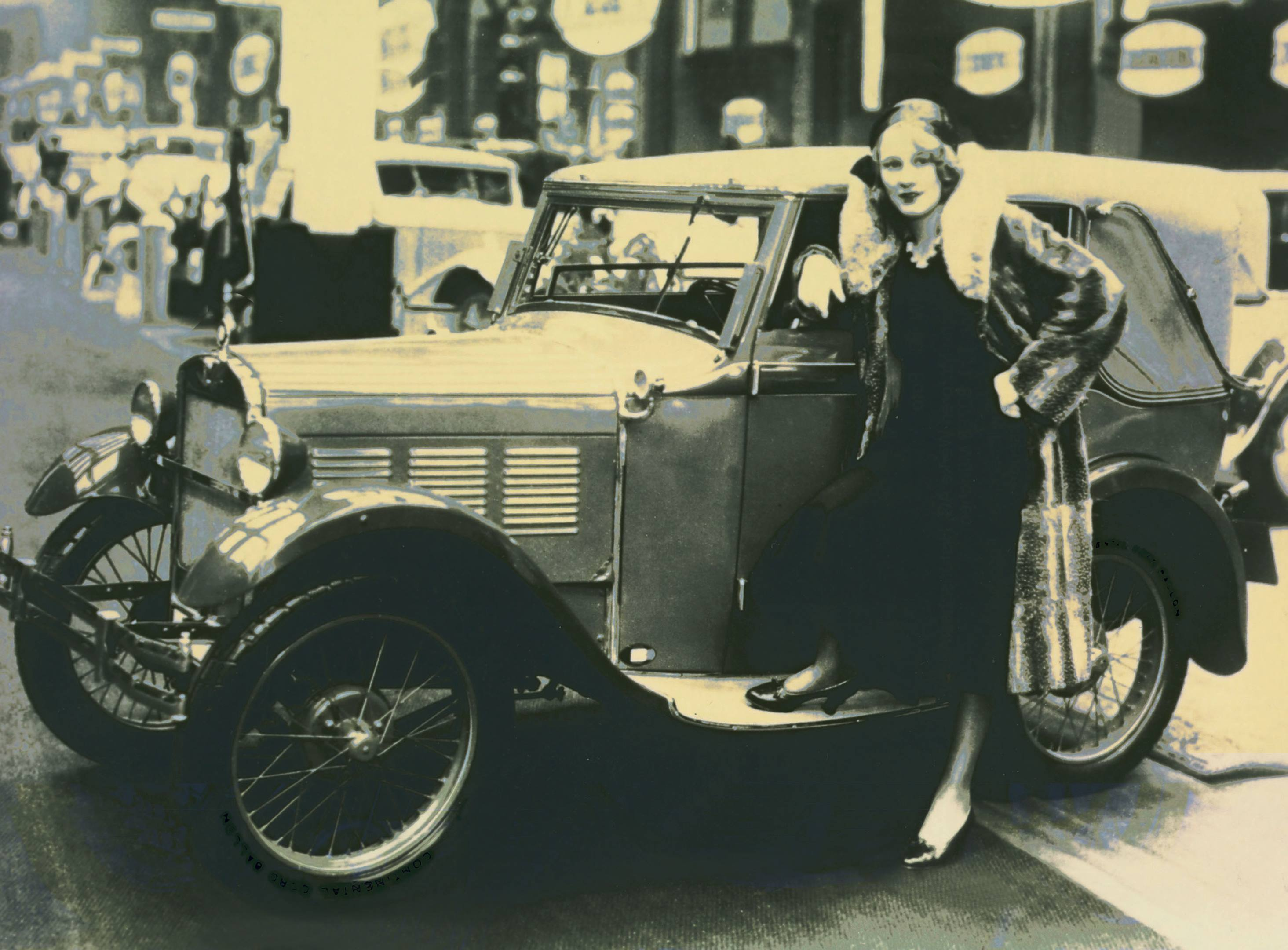 1928 BMW Dixi 3/15 PS with model