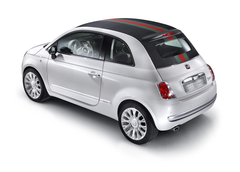 2012 Fiat 500 Gucci rear 3/4