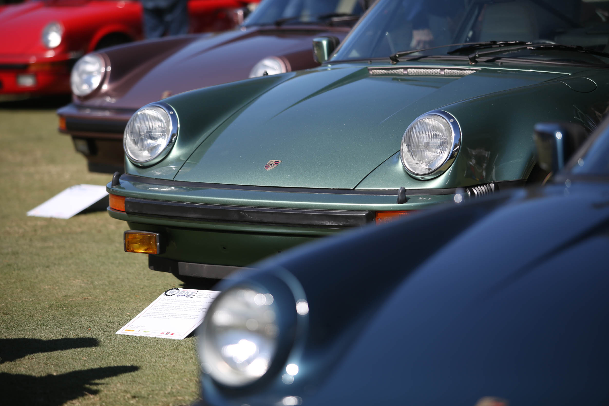 The Werks Reunion brought out dozens and dozens of Porsches, including a full spectrum of 911s.
