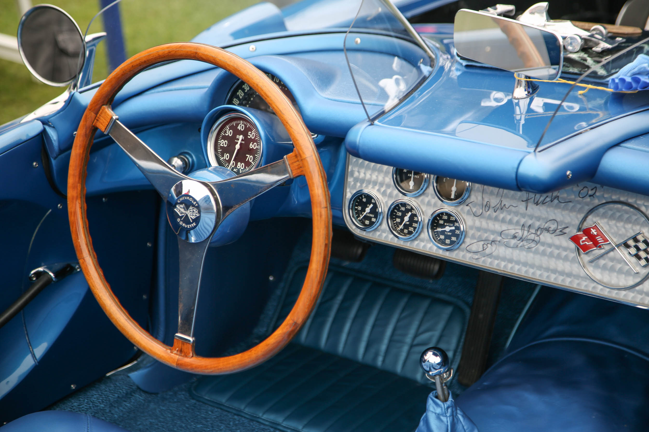 signed corvette dashboard