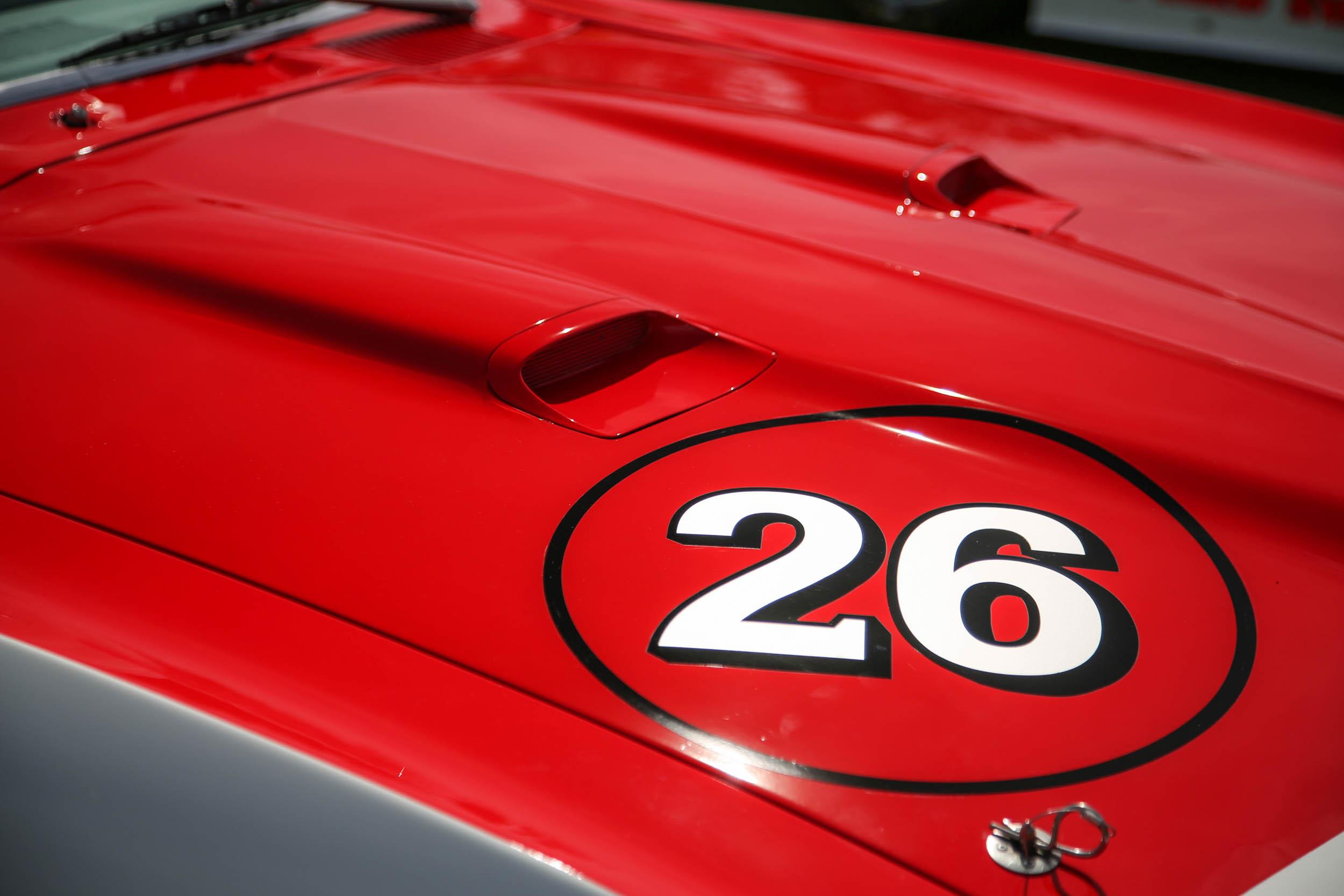 Amelia Island 2018 car hood detail