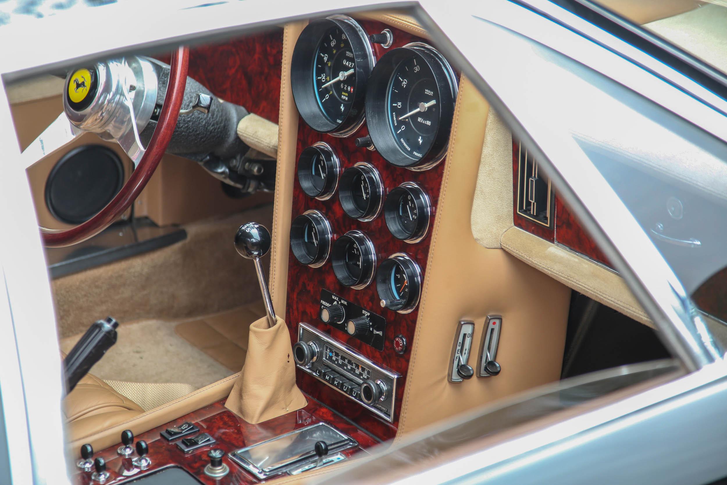 Ferrari race car gauge cluster