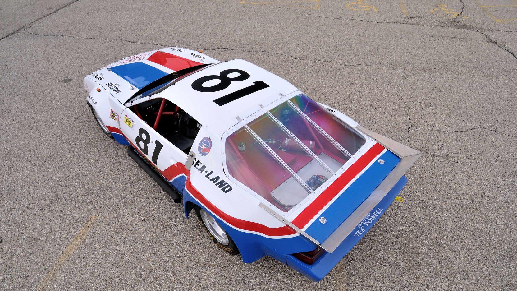 1982 Chevrolet Camaro Le Mans Race Car overhead rear