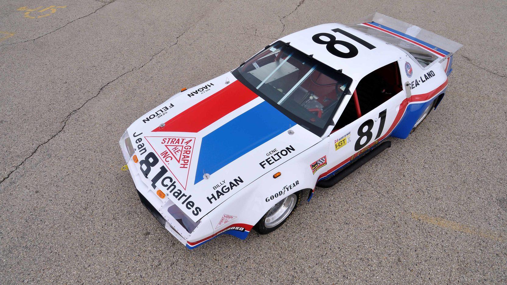 1982 Chevrolet Camaro Le Mans Race Car overhead
