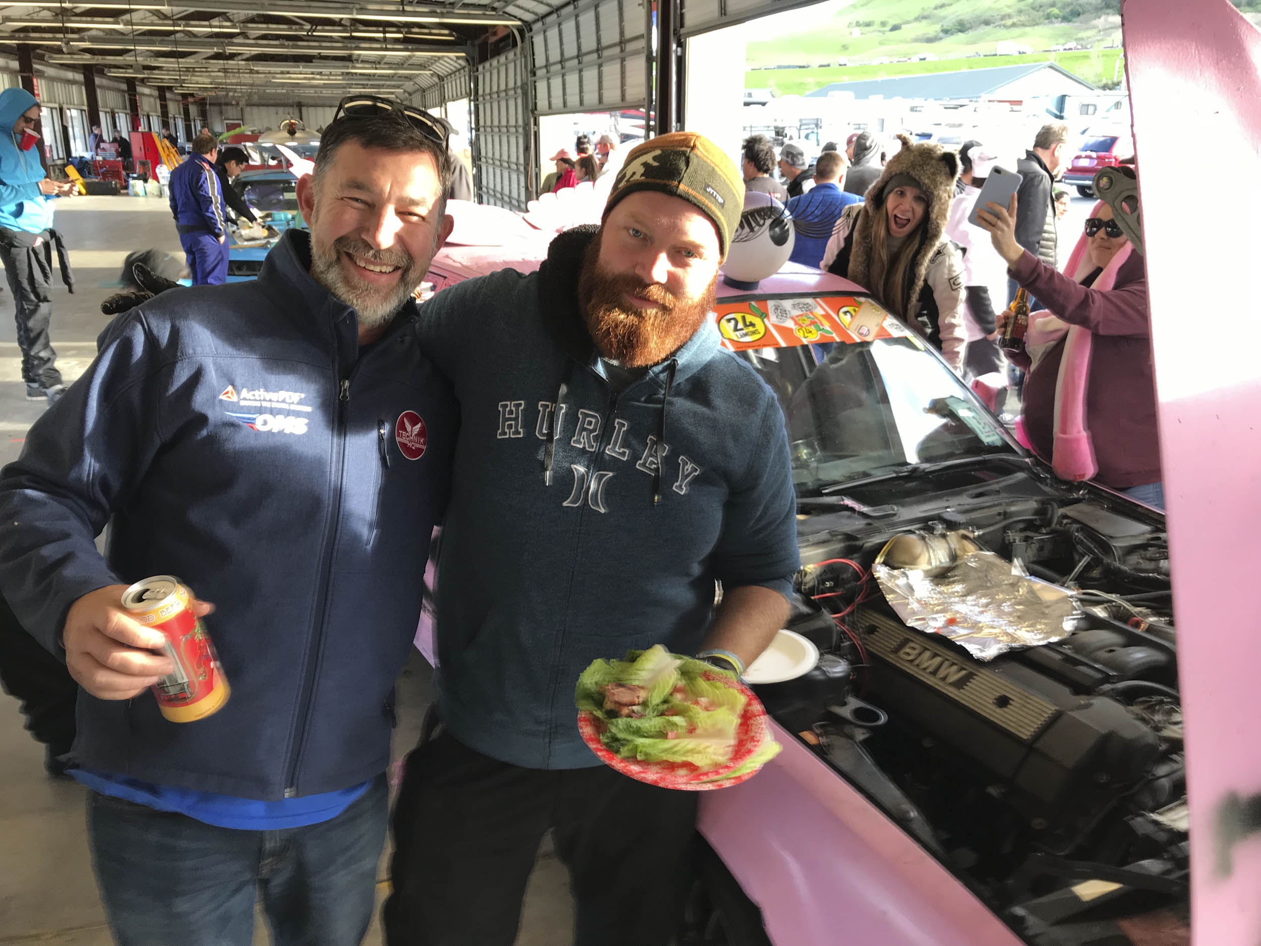 event goers at the LeMons Underhood Cook Off