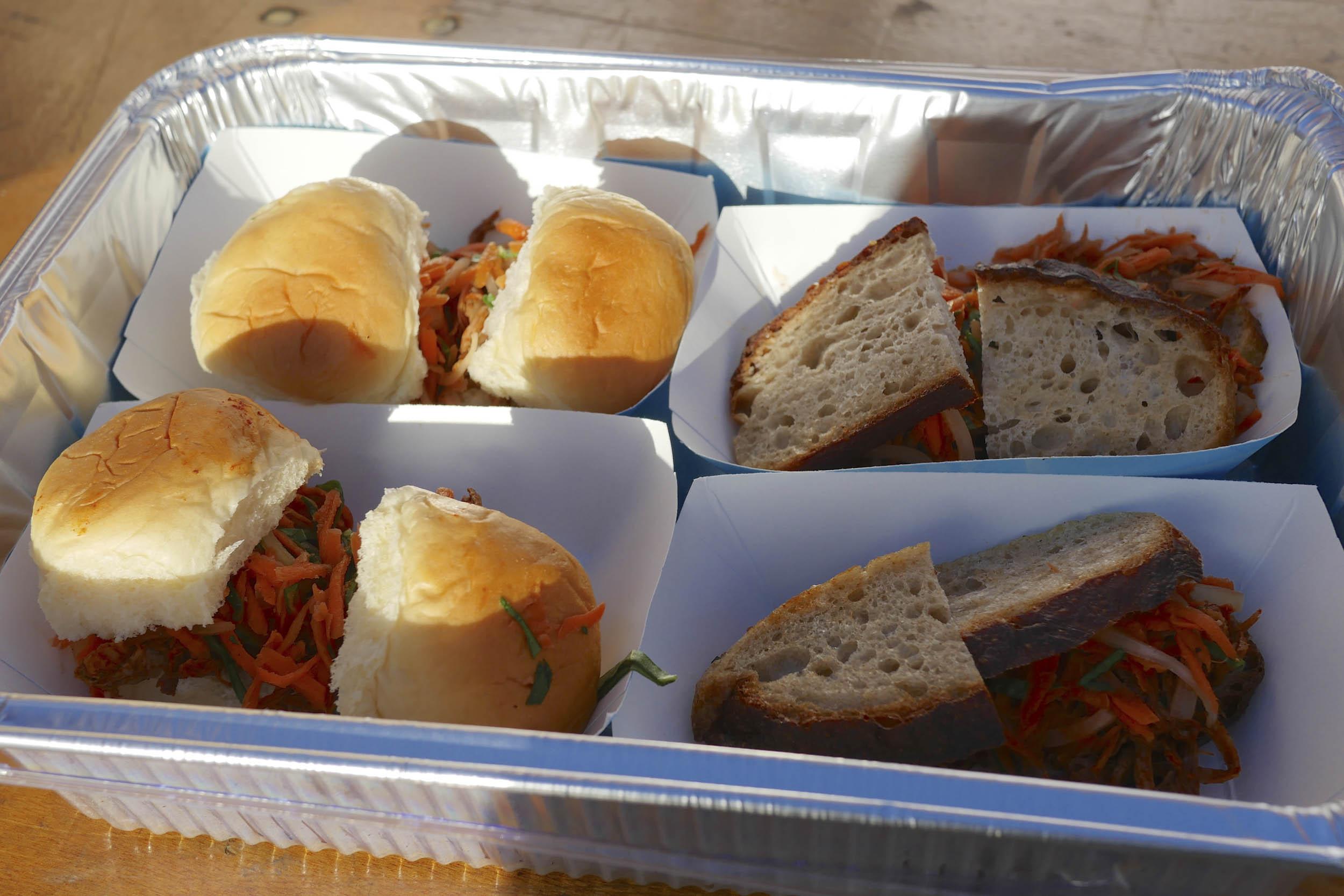 24 Hours Of LeMons Underhood Cook Off sandwiches